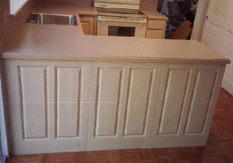 Image Gallery of Refinishing Pickled Oak Cabinets
